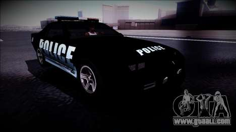 Chevrolet Camaro 1990 IROC-Z Police Interceptor for GTA San Andreas right view