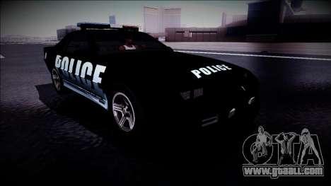 Chevrolet Camaro 1990 IROC-Z Police Interceptor for GTA San Andreas right view