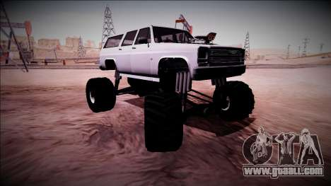 Rancher XL Monster Truck for GTA San Andreas bottom view