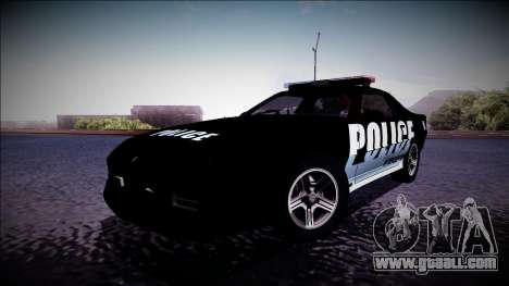 Chevrolet Camaro 1990 IROC-Z Police Interceptor for GTA San Andreas left view