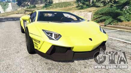 Lamborghini Aventador LP700-4 [LibertyWalk] v1.0 for GTA 5