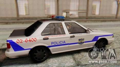 Nissan Sentra B13 2004 Patrol with a Salvadoran  for GTA San Andreas right view