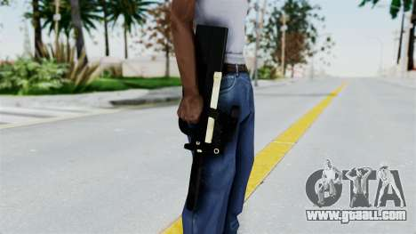 P90 Gold Silenced for GTA San Andreas third screenshot