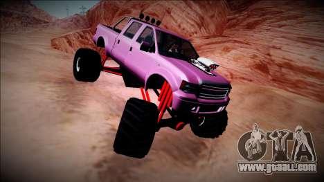 GTA 5 Vapid Sadler Monster Truck for GTA San Andreas back view