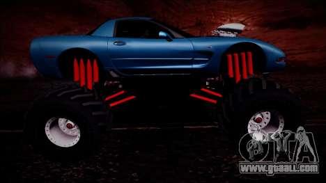 Chevrolet Corvette C5 Monster Truck for GTA San Andreas upper view