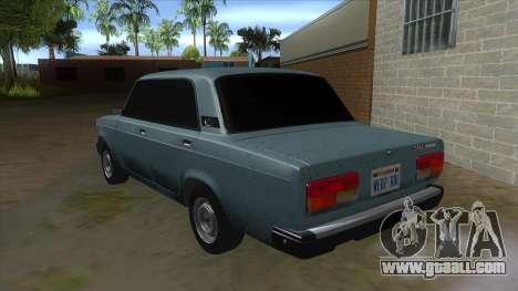 VAZ 2107 v1 for GTA San Andreas back left view