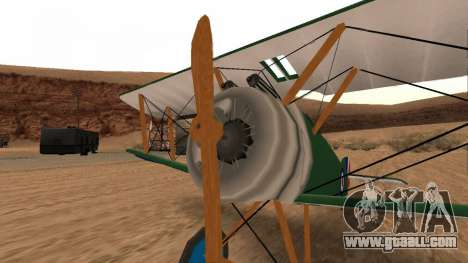 Sopwith Camel for GTA San Andreas back left view