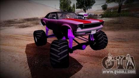 GTA 5 Declasse Tampa Monster Truck for GTA San Andreas upper view
