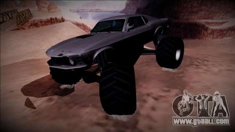 1970 Ford Mustang Boss Monster Truck for GTA San Andreas back view