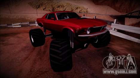 1970 Ford Mustang Boss Monster Truck for GTA San Andreas right view