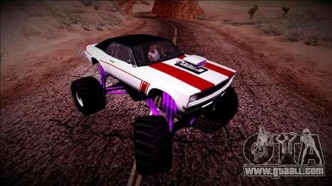GTA 5 Declasse Tampa Monster Truck for GTA San Andreas inner view