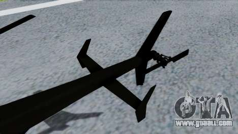 MH-9 Hummingbird Recon for GTA San Andreas back left view