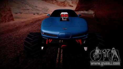 Chevrolet Corvette C5 Monster Truck for GTA San Andreas interior