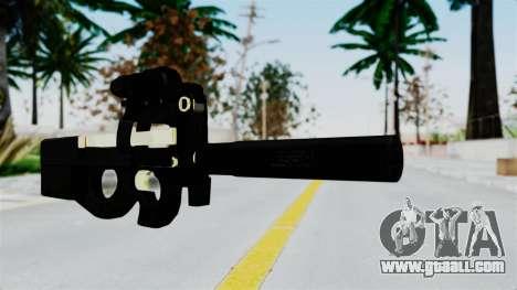 P90 Gold Silenced for GTA San Andreas