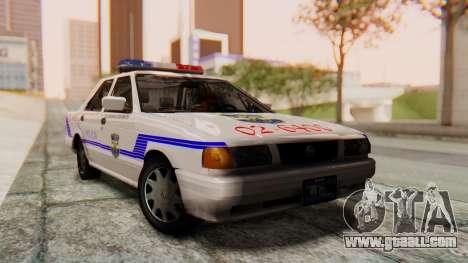 Nissan Sentra B13 2004 Patrol with a Salvadoran  for GTA San Andreas