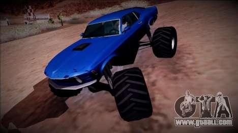 1970 Ford Mustang Boss Monster Truck for GTA San Andreas engine