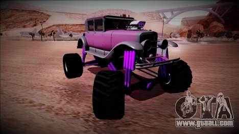 GTA 5 Albany Roosevelt Monster Truck for GTA San Andreas back view