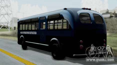 Parry Bus Police Bus 1949 - 1953 Mafia 2 for GTA San Andreas left view