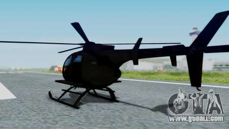 MH-9 Hummingbird Recon for GTA San Andreas left view