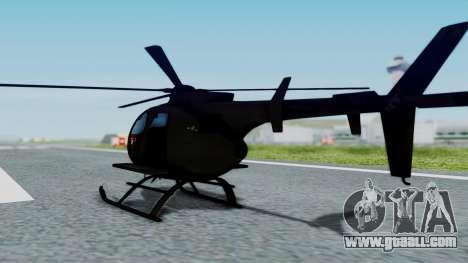 MH-9 Hummingbird Recon for GTA San Andreas left view