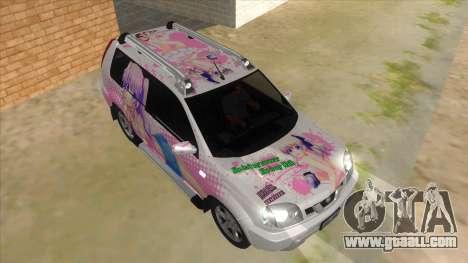 2005 Nissan X-Trail 2.5 XT Tomori Nao Itasha for GTA San Andreas back view