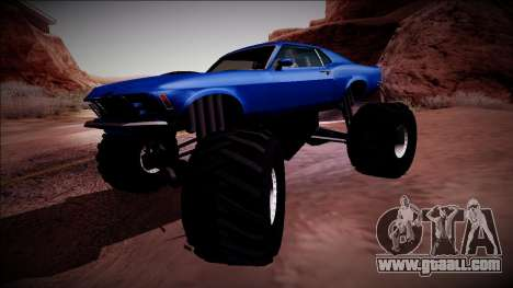 1970 Ford Mustang Boss Monster Truck for GTA San Andreas bottom view