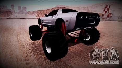 Chevrolet Corvette C5 Monster Truck for GTA San Andreas left view