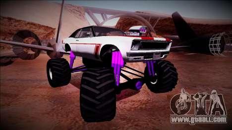 GTA 5 Declasse Tampa Monster Truck for GTA San Andreas right view