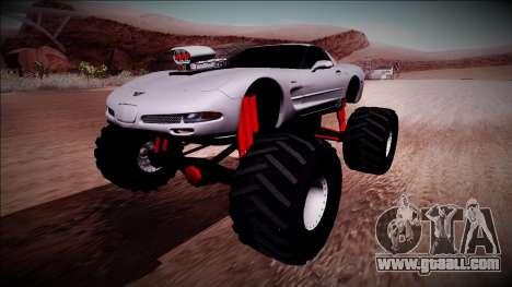 Chevrolet Corvette C5 Monster Truck for GTA San Andreas