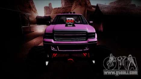 GTA 5 Vapid Sadler Monster Truck for GTA San Andreas upper view