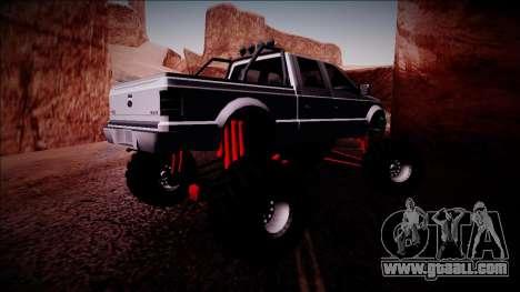GTA 5 Vapid Sadler Monster Truck for GTA San Andreas right view