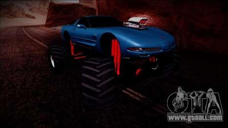 Chevrolet Corvette C5 Monster Truck for GTA San Andreas side view