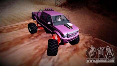 GTA 5 Vapid Sadler Monster Truck for GTA San Andreas inner view