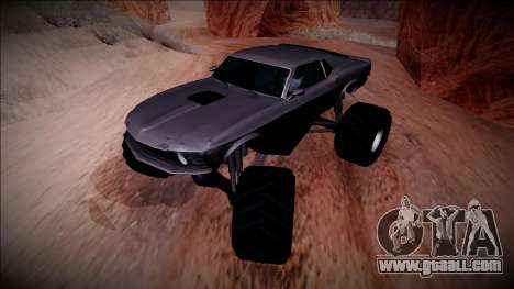1970 Ford Mustang Boss Monster Truck for GTA San Andreas side view