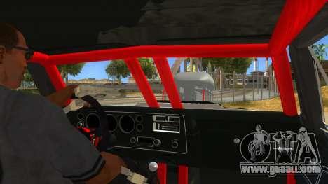 1970 Chevrolet El Camino SS Drag for GTA San Andreas inner view