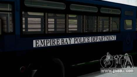 Parry Bus Police Bus 1949 - 1953 Mafia 2 for GTA San Andreas back left view