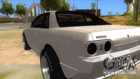 Nissan Skyline R32 Drag for GTA San Andreas back left view