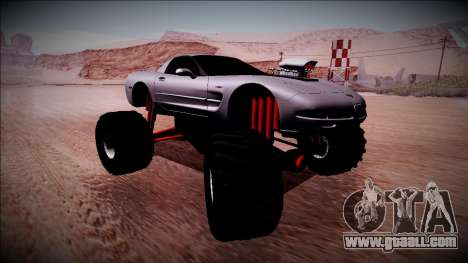 Chevrolet Corvette C5 Monster Truck for GTA San Andreas back left view
