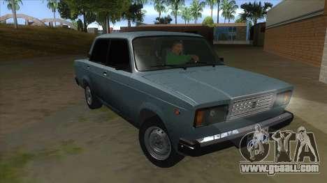 VAZ 2107 v1 for GTA San Andreas back view
