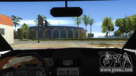 2005 Nissan X-Trail 2.5 XT Tomori Nao Itasha for GTA San Andreas inner view