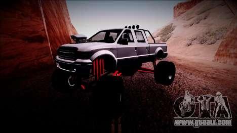 GTA 5 Vapid Sadler Monster Truck for GTA San Andreas left view