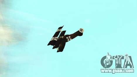 Fokker Dr1 triplane for GTA San Andreas right view