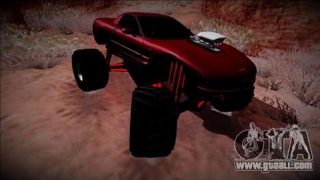 Chevrolet Corvette C5 Monster Truck for GTA San Andreas inner view