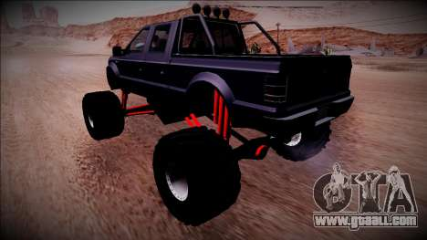 GTA 5 Vapid Sadler Monster Truck for GTA San Andreas back left view