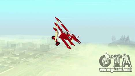 Fokker Dr1 triplane for GTA San Andreas