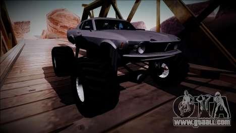 1970 Ford Mustang Boss Monster Truck for GTA San Andreas inner view