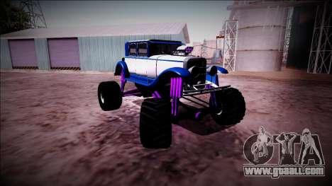 GTA 5 Albany Roosevelt Monster Truck for GTA San Andreas inner view