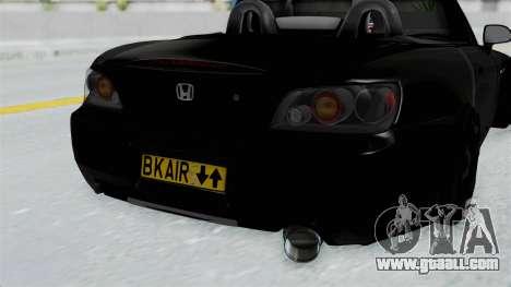 Honda S2000 Berlin Black for GTA San Andreas back view