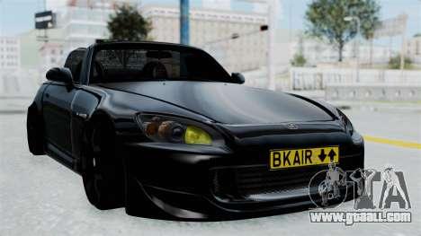 Honda S2000 Berlin Black for GTA San Andreas