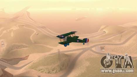 Sopwith Camel for GTA San Andreas right view